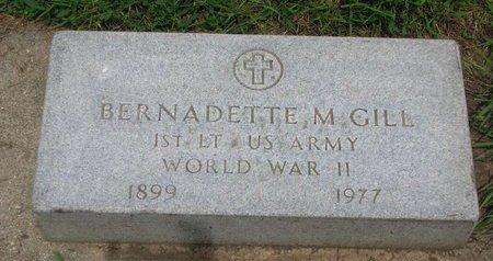 GILL, BERNADETTE M. (WORLD WAR II) - Union County, South Dakota   BERNADETTE M. (WORLD WAR II) GILL - South Dakota Gravestone Photos