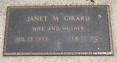 GIRARD, JANET MARY - Union County, South Dakota | JANET MARY GIRARD - South Dakota Gravestone Photos