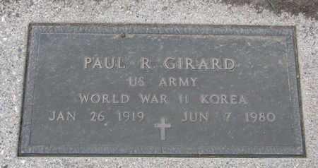 GIRARD, PAUL ROBERT (WORLD WAR II & KOREA) - Union County, South Dakota | PAUL ROBERT (WORLD WAR II & KOREA) GIRARD - South Dakota Gravestone Photos