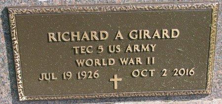 """GIRARD, RICHARD A. """"BUD"""" (WORLD WAR II) - Union County, South Dakota   RICHARD A. """"BUD"""" (WORLD WAR II) GIRARD - South Dakota Gravestone Photos"""