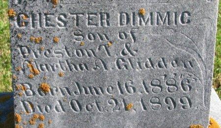 GLIDDEN, CHESTER DIMMIC (CLOSE UP) - Union County, South Dakota | CHESTER DIMMIC (CLOSE UP) GLIDDEN - South Dakota Gravestone Photos