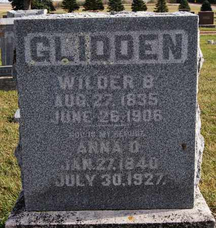 GLIDDEN, WILDER B - Union County, South Dakota | WILDER B GLIDDEN - South Dakota Gravestone Photos