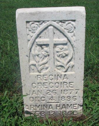 GREGOIRE, REGINA - Union County, South Dakota | REGINA GREGOIRE - South Dakota Gravestone Photos