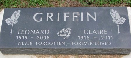 GRIFFIN, LEONARD - Union County, South Dakota | LEONARD GRIFFIN - South Dakota Gravestone Photos