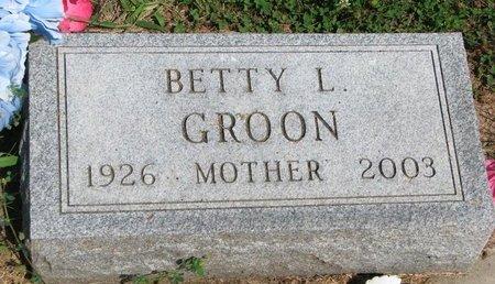 GROON, BETTY L. - Union County, South Dakota | BETTY L. GROON - South Dakota Gravestone Photos
