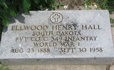 HALL, ELLWOOD HENRY (WORLD WAR I) - Union County, South Dakota | ELLWOOD HENRY (WORLD WAR I) HALL - South Dakota Gravestone Photos