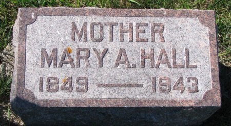 HALL, MARY A. - Union County, South Dakota | MARY A. HALL - South Dakota Gravestone Photos