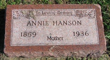 HAUG HANSON, ANNIE HANSDTR  - Union County, South Dakota | ANNIE HANSDTR  HAUG HANSON - South Dakota Gravestone Photos