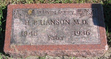HANSON, HANS PETER (M.D.) - Union County, South Dakota | HANS PETER (M.D.) HANSON - South Dakota Gravestone Photos