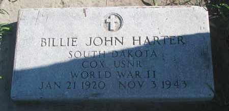HARTER, BILLIE JOHN (WORLD WAR II) - Union County, South Dakota | BILLIE JOHN (WORLD WAR II) HARTER - South Dakota Gravestone Photos