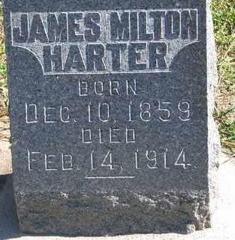 HARTER, JAMES MILTON - Union County, South Dakota   JAMES MILTON HARTER - South Dakota Gravestone Photos