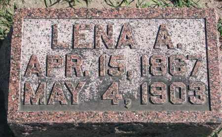HARTER, LENA A. (FOOTSTONE) - Union County, South Dakota | LENA A. (FOOTSTONE) HARTER - South Dakota Gravestone Photos