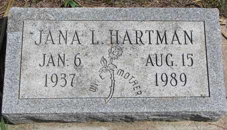 HARTMAN, JANA L. - Union County, South Dakota   JANA L. HARTMAN - South Dakota Gravestone Photos
