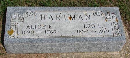 HARTMAN, ALICE E. - Union County, South Dakota | ALICE E. HARTMAN - South Dakota Gravestone Photos