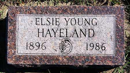 YOUNG HAYELAND, ELSIE - Union County, South Dakota | ELSIE YOUNG HAYELAND - South Dakota Gravestone Photos
