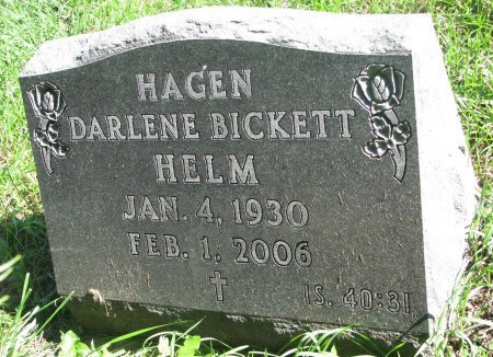 BICKETT HAGEN, DARLENE - Union County, South Dakota | DARLENE BICKETT HAGEN - South Dakota Gravestone Photos