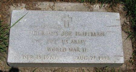 HOFFMAN, TIBERTIUS JOE (WORLD WAR II) - Union County, South Dakota | TIBERTIUS JOE (WORLD WAR II) HOFFMAN - South Dakota Gravestone Photos