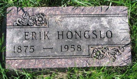 HONGSLO, ERIK - Union County, South Dakota | ERIK HONGSLO - South Dakota Gravestone Photos
