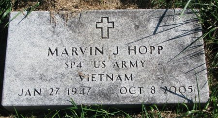 HOPP, MARVIN J. - Union County, South Dakota | MARVIN J. HOPP - South Dakota Gravestone Photos