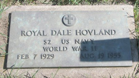 HOVLAND, ROYAL DALE (WORLD WAR II) - Union County, South Dakota | ROYAL DALE (WORLD WAR II) HOVLAND - South Dakota Gravestone Photos