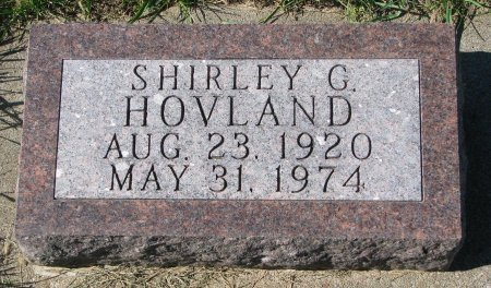 HOVLAND, SHIRLEY G. - Union County, South Dakota | SHIRLEY G. HOVLAND - South Dakota Gravestone Photos