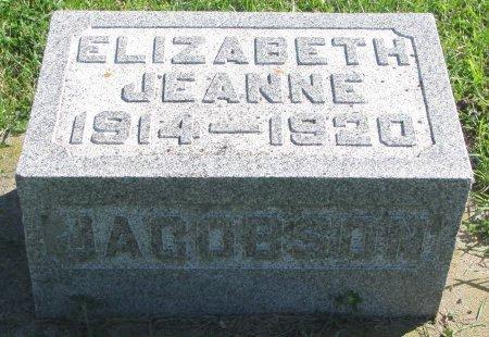 JACOBSON, ELIZABETH JEANNE - Union County, South Dakota | ELIZABETH JEANNE JACOBSON - South Dakota Gravestone Photos