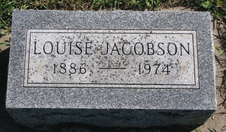 JACOBSON, LOUISE - Union County, South Dakota | LOUISE JACOBSON - South Dakota Gravestone Photos