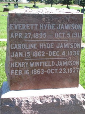 JAMISON, CAROLINE HYDE - Union County, South Dakota | CAROLINE HYDE JAMISON - South Dakota Gravestone Photos