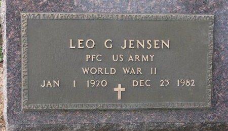 JENSEN, LEO G. (WORLD WAR II) - Union County, South Dakota   LEO G. (WORLD WAR II) JENSEN - South Dakota Gravestone Photos