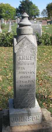 JOHNSON, ANNE - Union County, South Dakota | ANNE JOHNSON - South Dakota Gravestone Photos