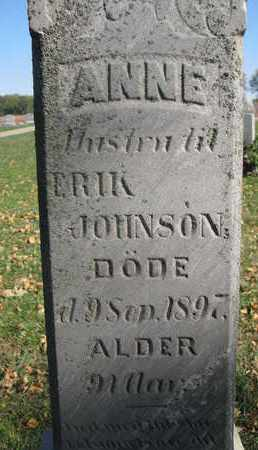 JOHNSON, ANNE (CLOSEUP) - Union County, South Dakota   ANNE (CLOSEUP) JOHNSON - South Dakota Gravestone Photos