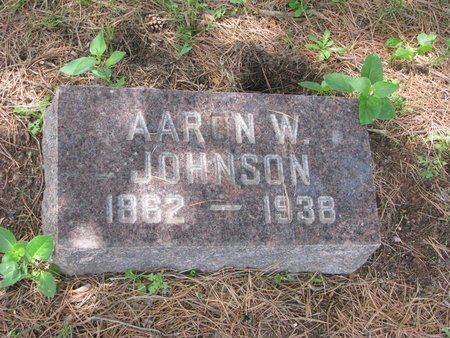 JOHNSON, AARON W. - Union County, South Dakota | AARON W. JOHNSON - South Dakota Gravestone Photos
