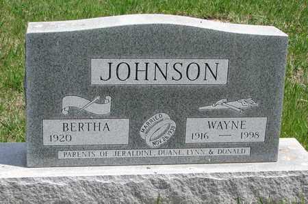 JOHNSON, WAYNE - Union County, South Dakota   WAYNE JOHNSON - South Dakota Gravestone Photos