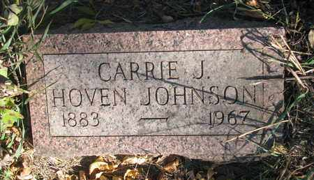 HOVEN JOHNSON, CARRIE J. - Union County, South Dakota | CARRIE J. HOVEN JOHNSON - South Dakota Gravestone Photos