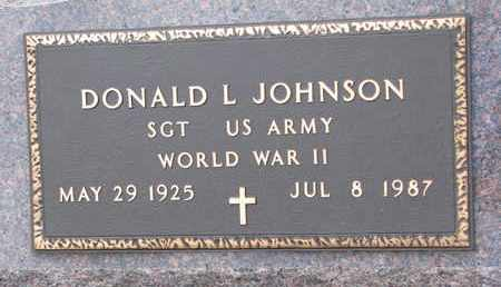 JOHNSON, DONALD L. (WORLD WAR II) - Union County, South Dakota   DONALD L. (WORLD WAR II) JOHNSON - South Dakota Gravestone Photos