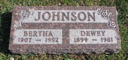 JOHNSON, DEWEY - Union County, South Dakota   DEWEY JOHNSON - South Dakota Gravestone Photos