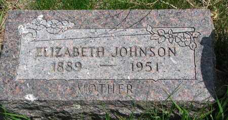 JOHNSON, ELIZABETH - Union County, South Dakota | ELIZABETH JOHNSON - South Dakota Gravestone Photos