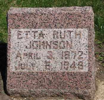 JOHNSON, ETTA RUTH - Union County, South Dakota   ETTA RUTH JOHNSON - South Dakota Gravestone Photos