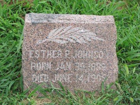 JOHNSON, ESTHER P. - Union County, South Dakota   ESTHER P. JOHNSON - South Dakota Gravestone Photos