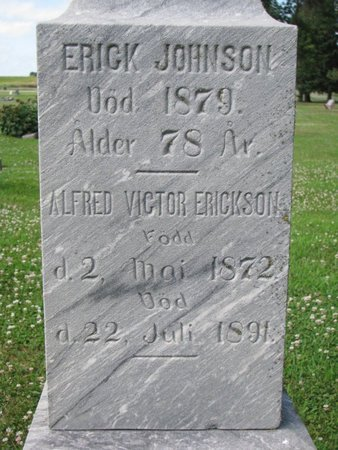 JOHNSON, ERICK (CLOSEUP) - Union County, South Dakota | ERICK (CLOSEUP) JOHNSON - South Dakota Gravestone Photos