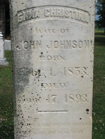 JOHNSON, EMMA CHRISTINA (CLOSE UP) - Union County, South Dakota | EMMA CHRISTINA (CLOSE UP) JOHNSON - South Dakota Gravestone Photos