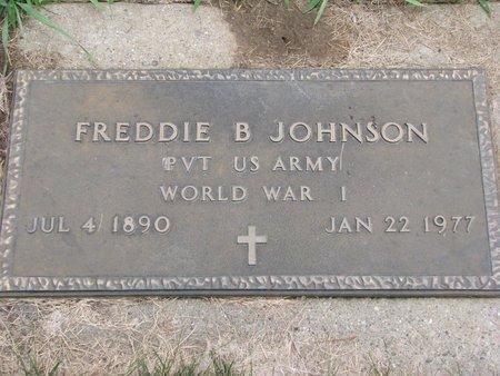 JOHNSON, FREDDIE B. (WORLD WAR I) - Union County, South Dakota | FREDDIE B. (WORLD WAR I) JOHNSON - South Dakota Gravestone Photos