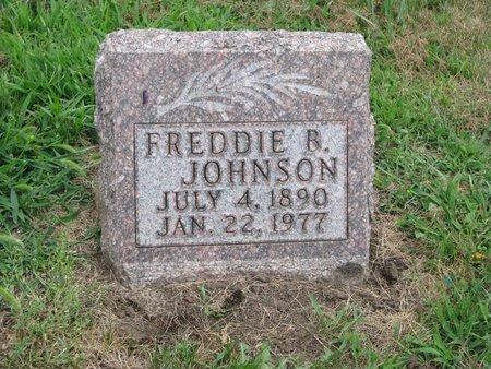 JOHNSON, FREDDIE B. - Union County, South Dakota   FREDDIE B. JOHNSON - South Dakota Gravestone Photos