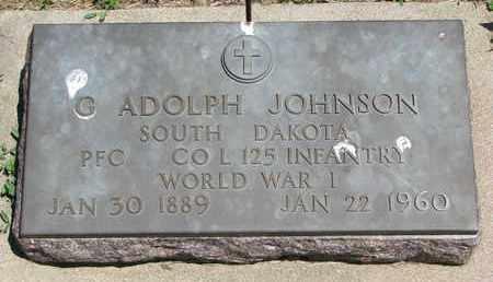 JOHNSON, G. ADOLPH (WORLD WAR I) - Union County, South Dakota | G. ADOLPH (WORLD WAR I) JOHNSON - South Dakota Gravestone Photos