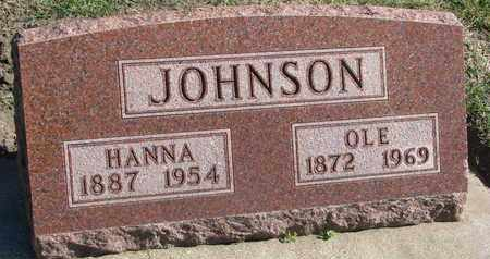 JOHNSON, HANNA - Union County, South Dakota | HANNA JOHNSON - South Dakota Gravestone Photos