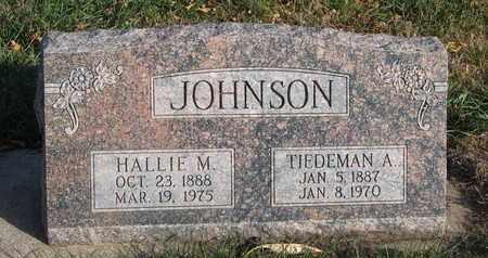 JOHNSON, HALLIE M. - Union County, South Dakota | HALLIE M. JOHNSON - South Dakota Gravestone Photos