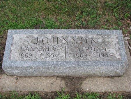 LINDBLOM JOHNSON, HANNAH V. - Union County, South Dakota | HANNAH V. LINDBLOM JOHNSON - South Dakota Gravestone Photos