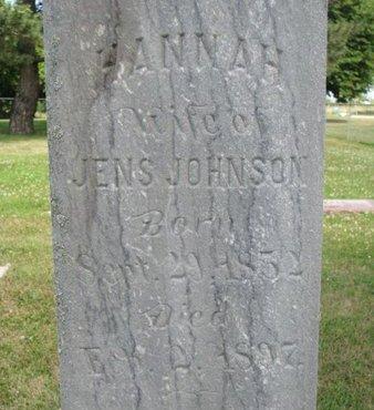 JOHNSON, HANNAH (CLOSE UP) - Union County, South Dakota | HANNAH (CLOSE UP) JOHNSON - South Dakota Gravestone Photos