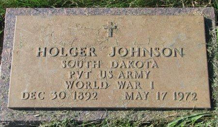 JOHNSON, HOLGER (WORLD WAR I) - Union County, South Dakota | HOLGER (WORLD WAR I) JOHNSON - South Dakota Gravestone Photos