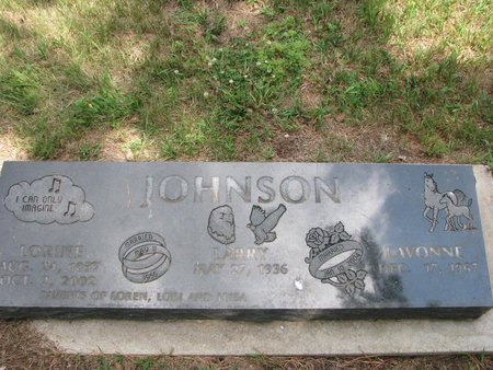 JOHNSON, LORINE KAY - Union County, South Dakota | LORINE KAY JOHNSON - South Dakota Gravestone Photos